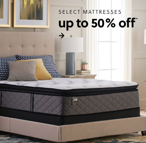 Save up to 50% on select mattresses